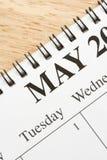 Maio no calendário. Foto de Stock Royalty Free