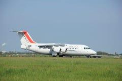 maio, 11o 2015, aeroporto de Schiphol os Países Baixos: EI-RJO Cityjet Foto de Stock