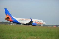 maio, 11o 2015, Amsterdão os Países Baixos: G-GDFO Jet2 Boeing 73 Imagens de Stock Royalty Free