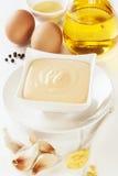 Maionese e ingredientes Foto de Stock