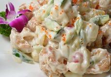Maionese Fried Prawn profundo imagem de stock