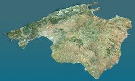 Maiorca Island satellite view Stock Photo