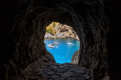 Mediterranean Summer holidays caves Royalty Free Stock Images