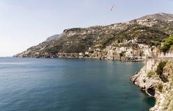 Maiori - Amalfi Coast. Maiori, has the largest and most beautiful beach on the Amalfi coast royalty free stock images
