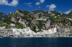 Maiori, amalfi coast. Maiori on the amalfi coast of italy, on the tyrrhenian sea Stock Image