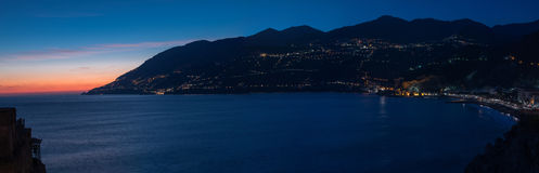 Maiori at night. Between Naples and Salerno. Italy Royalty Free Stock Photography