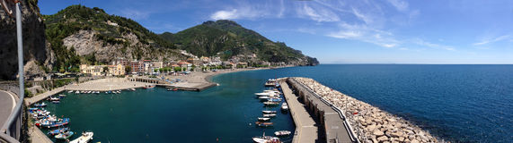 Maiori tourist harbor. Port of Maiori, on the Amalfi coast, Italy Royalty Free Stock Photography