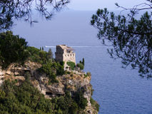 Maiori tower on the coast amal Royalty Free Stock Photography