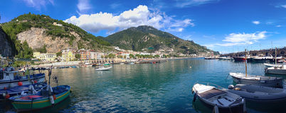 Maiori Village, view from port. Landscape details Maiori village, by Amalfi Coast, Italy Stock Images