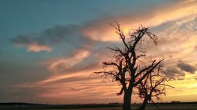 A maioria de céu do beutifle nubla-se a vista Fotos de Stock Royalty Free