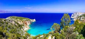A maioria de praias bonitas da ilha da Creta - baía de Istron perto de Agios Ni Imagens de Stock Royalty Free