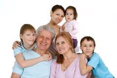 A maioria de tolo feliz da família caucasiano agradável fotografia de stock royalty free
