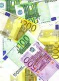 A maioria euro- de notas importantes Foto de Stock Royalty Free