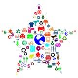 A maioria quiseram ícones Imagem de Stock Royalty Free