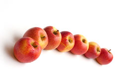Mairac apples. Red mairac apples (La Flamboyante Royalty Free Stock Photo