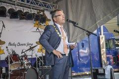 Maire de Halden Thor Edquist avec la chaîne Photo libre de droits