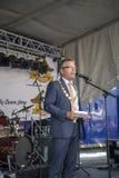 Maire de Halden Thor Edquist avec la chaîne Photographie stock libre de droits