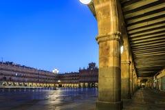 Maire de plaza de Salamanque à l'aube, Espagne photographie stock