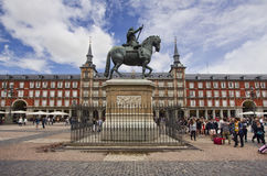 Maire de plaza, Madrid, Espagne Photos libres de droits