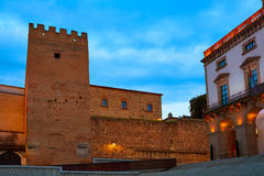 Maire Extremadura de plaza de Caceres de l'Espagne Photos libres de droits