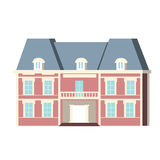 Mairie. Illustration of a municipal building, pink and Royalty Free Stock Photo