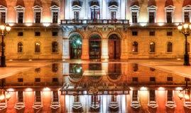 Mairie d'Annecybyggnad, Annecy, Frankrike Fotografering för Bildbyråer