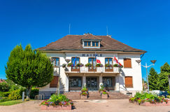 Mairie or town hall of Plobsheim near Strasbourg, France Royalty Free Stock Images