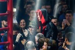 Mairis Briedis przed walką przy areną Ryską, Zdjęcie Royalty Free