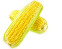Mais auf einem weißen Hintergrund Lizenzfreies Stockbild