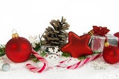 Mais baixa decoração do Natal com pirulitos Fotos de Stock Royalty Free