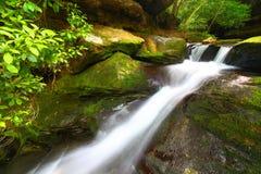 Mais baixas quedas da angra de Caney - Alabama Imagem de Stock Royalty Free