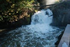 Mais baixas quedas 3 de Tumwater Fotografia de Stock
