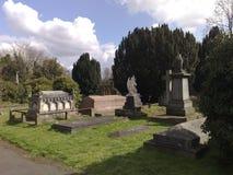 Mais baixo cemitério comum de Putney, Londres, Inglaterra Foto de Stock