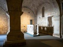 Mais baixo salão da igreja Santa Maria em Solario foto de stock