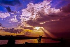 Mais, Berge und Himmel Lizenzfreie Stockfotografie