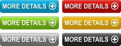 Mais botões dos detalhes coloridos no branco ilustração royalty free