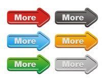 Mais - botões da seta Foto de Stock