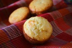 Mais-Brot-Muffins Stockfoto