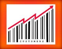 Mais clientes Imagem de Stock