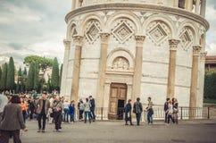 Mais de 800 anos de maravilha - torre de Pisa imagem de stock