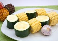 Mais e zucchini Immagine Stock Libera da Diritti
