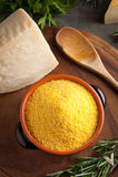 Mais-Mehl - italienischer Polenta Stockfoto