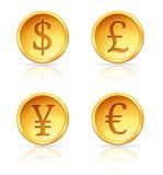 Mais moedas de ouro Fotos de Stock Royalty Free