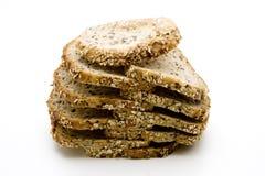 Mais pão da grão cortado imagens de stock