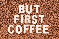 Mais premier café - fond rôti de grains de café Photos libres de droits