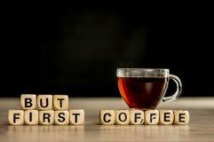 Mais premier concept de café Photographie stock
