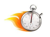 Mais rapidamente - conceito do negócio - o tempo está correndo Imagem de Stock