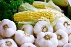 Mais und Knoblauch Lizenzfreies Stockbild