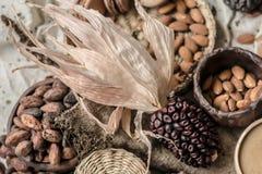 Mais und Mandeln Lizenzfreie Stockfotos