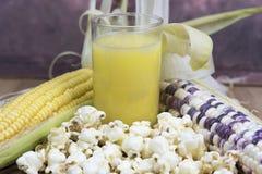 Mais und Produkte Stockfotografie